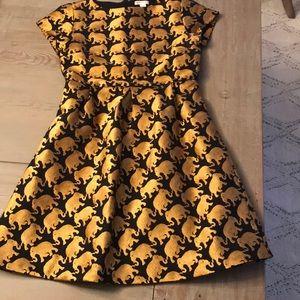 Crewcuts black/gold elephant dress